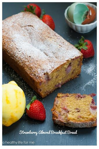 Strawberry Almond Breakfast Bread
