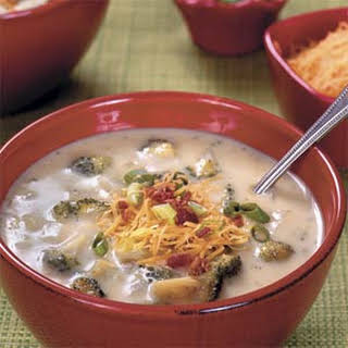 Baked Potato-and-Broccoli Soup.