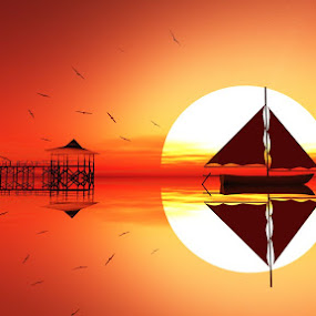 Sunset World by Lux Aeterna - Illustration Flowers & Nature (  )