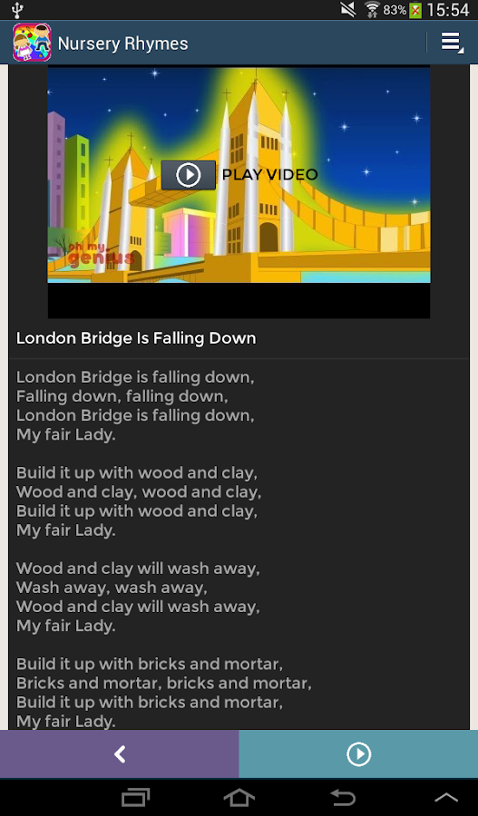 Nursery Rhymes Video & Lyrics- screenshot