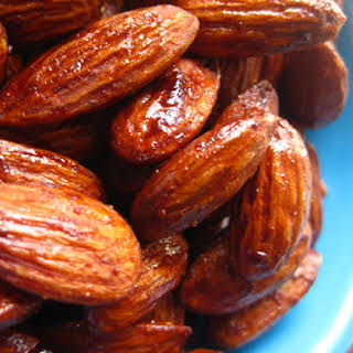 Soy Glazed Spiced Almonds.