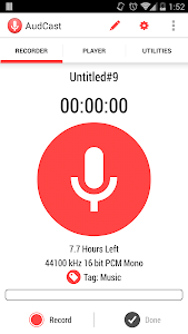 AudCast (Voice Recorder) screenshot 0