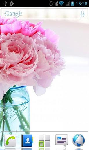 White-pink HD Live Wallpaper