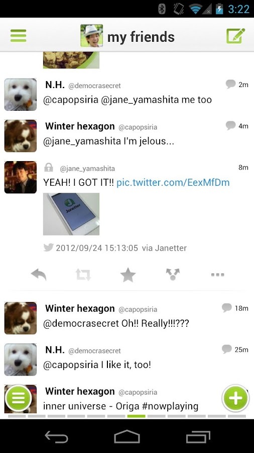 Janetter for Twitter- screenshot