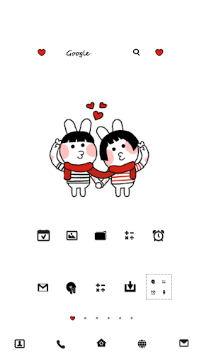 LovelyCoupleDodolLauncherTheme