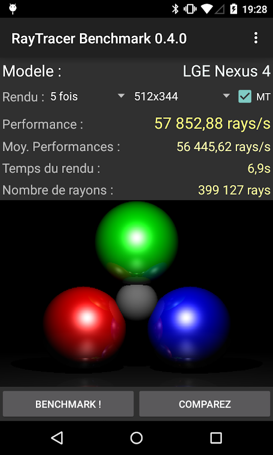 RayTracer Benchmark- screenshot