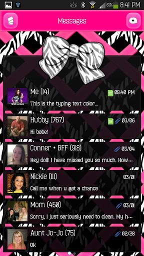 【免費個人化App】GO SMS - Sassy Bows 4-APP點子