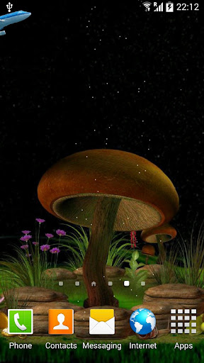 【免費娛樂App】3D Night Mushroom Live Wall-APP點子