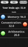 Screenshot of Brain Age Game