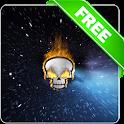 Burning skull lwp Free icon