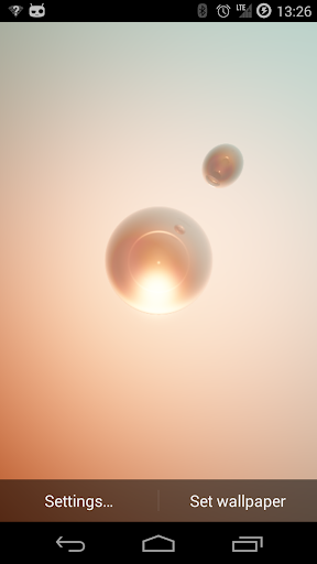 Glass Spheres Live Wallpaper
