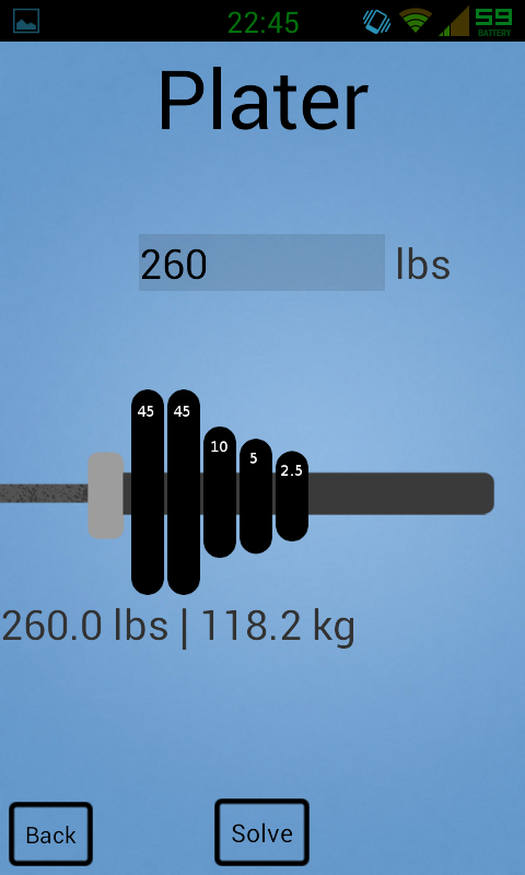 Barbell Calculator: W8r Pl8r- screenshot