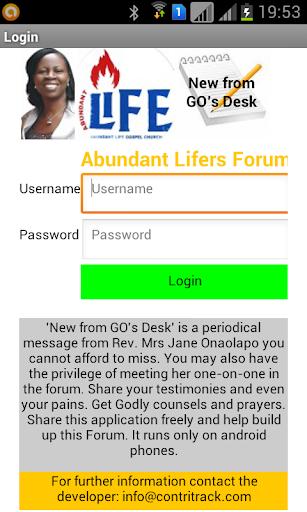 Abundant Lifers Forum