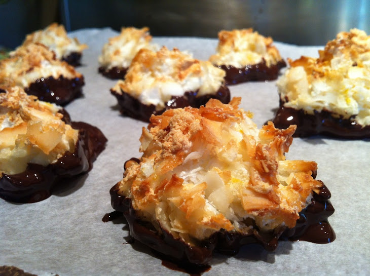 Chocolate Dipped Coconut Macaroons Recipe