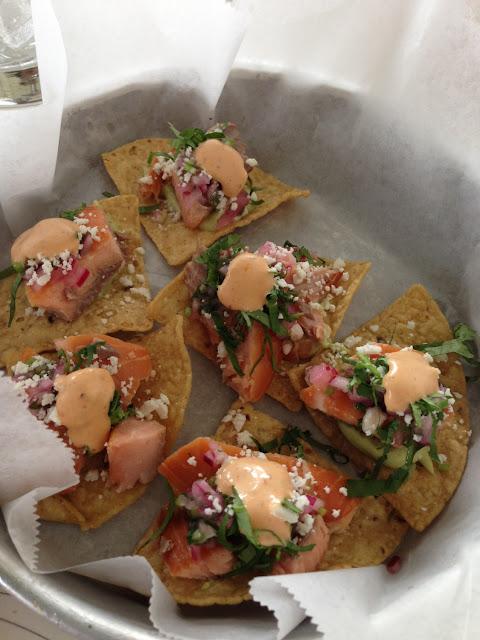 Totopos de salmon! So flavorful