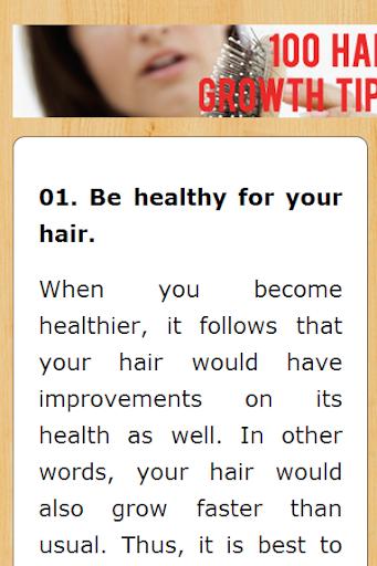 【免費健康App】100 Hair Growth Tips-APP點子