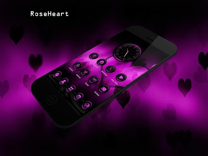 RoseHeart Next Launcher Theme