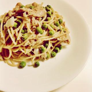 Tuna Pasta with White Wine Sauce.