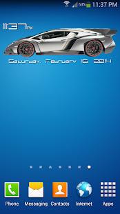 Lamborghini Clock Widget
