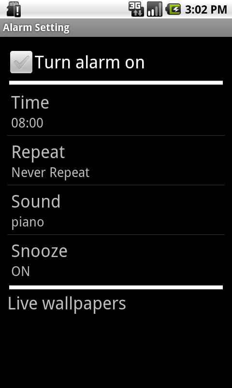 SIMPLE DESIGN ALARM CLOCK #001 - screenshot