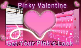Screenshot of SlideIT Pinky Valentine Skin