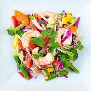 Asian Shrimp Soba Noodles With Vegetables