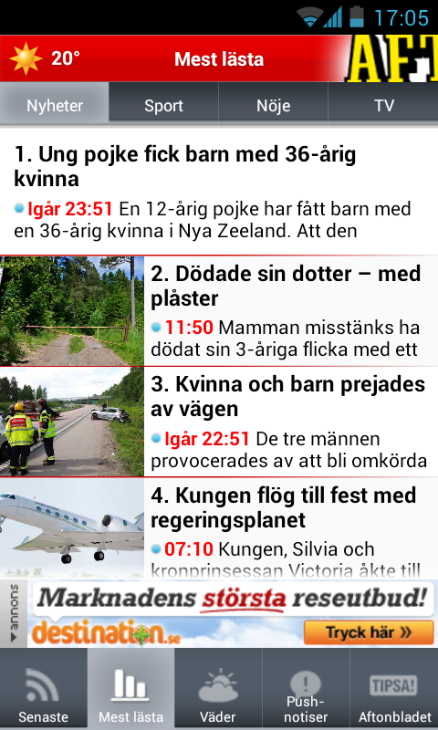 Aftonbladet Supernytt - screenshot