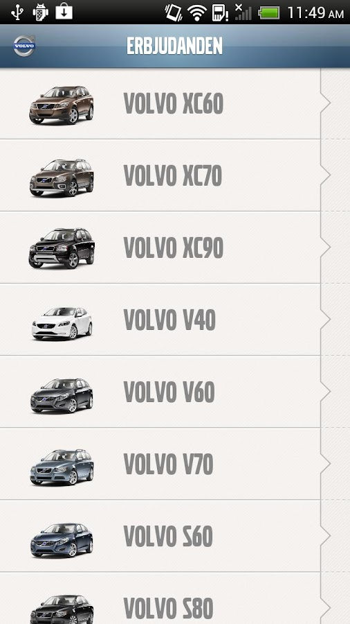 Din nya Volvo - screenshot