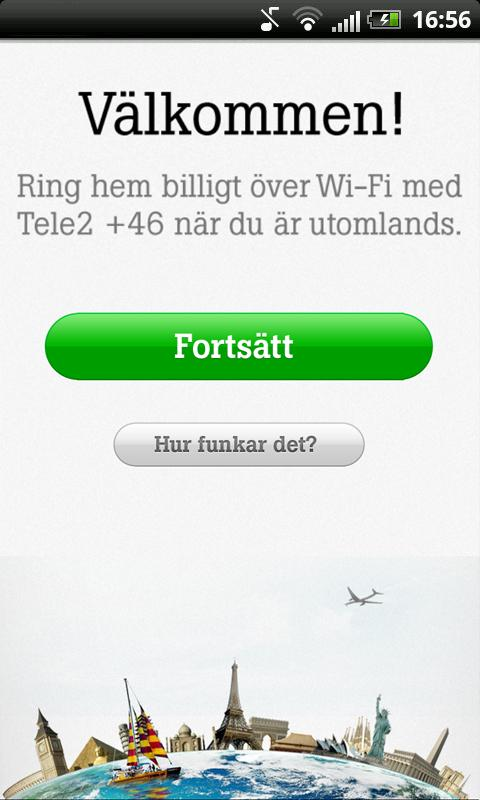 Tele2 +46 - screenshot