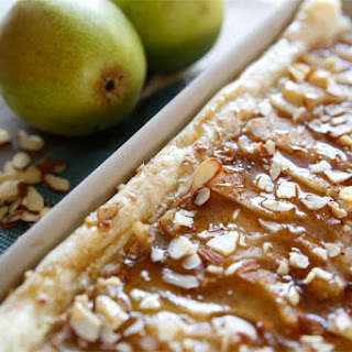 Honey Almond Poached Pear Tart