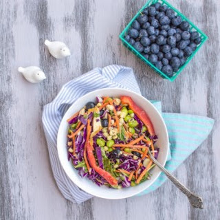 Rainbow Salad with Peanut Vinaigrette