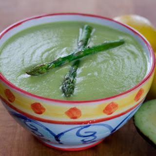 Roasted Asparagus Avocado Soup