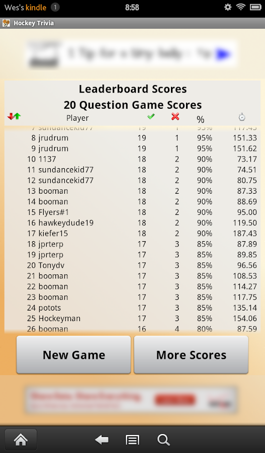 Hockey Trivia- screenshot