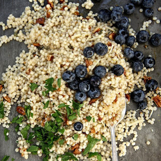 Toasted Pecan and Fresh Blueberry Couscous Salad.