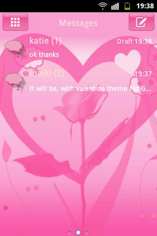 GO SMS Pro Theme Valentine Buy