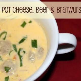 Crock-Pot Cheese, Beer & Bratwurst Soup.
