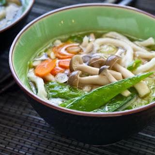 Udon Miso Noodle Soup.