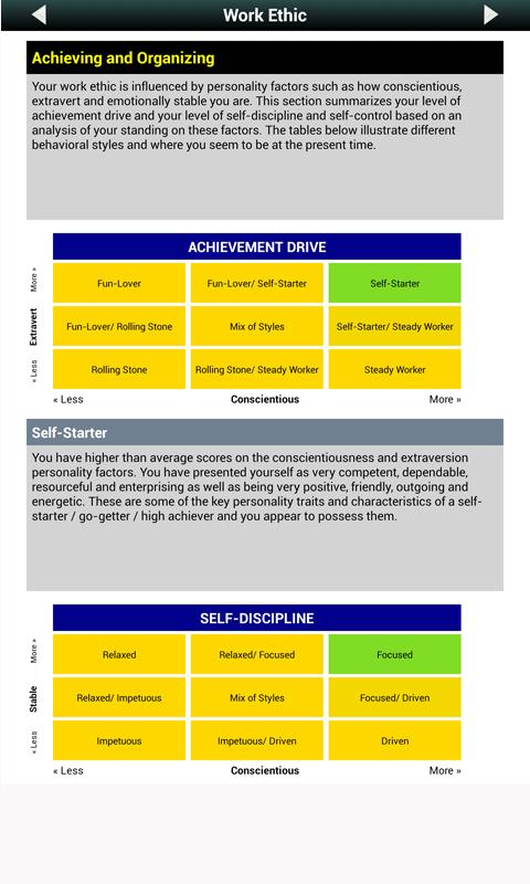Big 5 Personality Test - screenshot