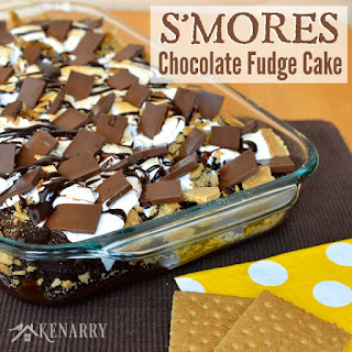 S'mores Chocolate Fudge Cake