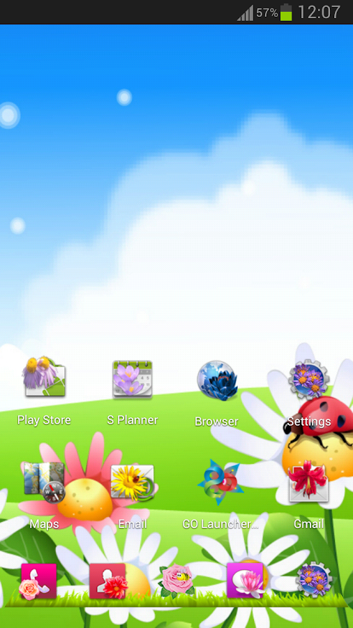Flowers Next Launcher - screenshot