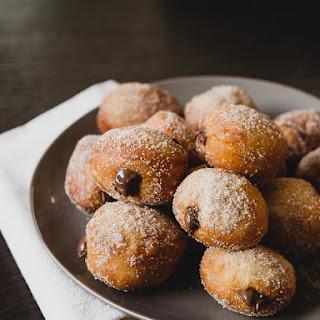 Nutella Filled Mini Doughnuts.
