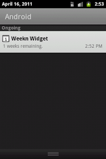 Weekn widget - screenshot thumbnail