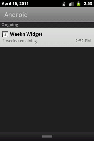Weekn widget - screenshot