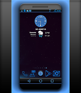 NEW CM 11 THEME STOCK GLOW- screenshot thumbnail