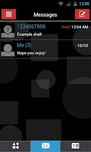 GO SMS THEME - Red Blue Shapes- screenshot thumbnail