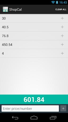 Shopping List Calculator
