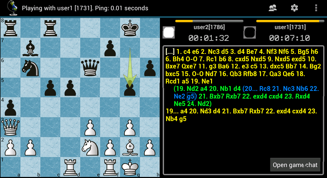 Chess ChessOK Playing Zone PGN- screenshot