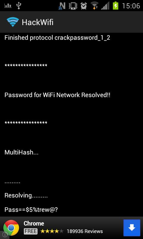 HackWifi - screenshot