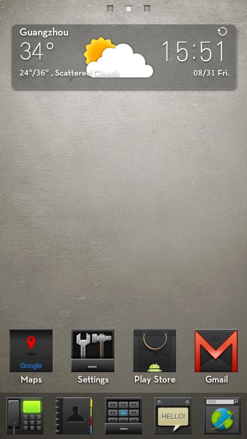 Hi Black(GO Launcher Theme) - screenshot