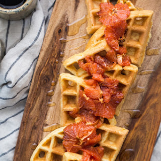 Cornbread Waffles with Roasted Grapefruit from The Easy Vegetarian Kitchen